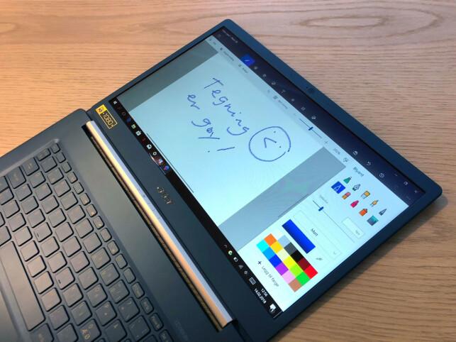 HELT FLATT: Det er få PC-er som har like fleksibel skjerm. Foto: Bjørn Eirik Loftås
