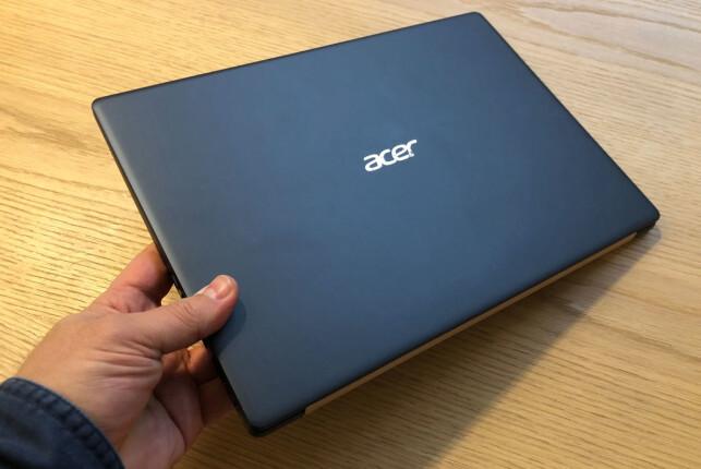 GRÅ MAGNESIUM: PC-en er godt oppstivet med kabinett av magnesium. Foto: Bjørn Eirik Loftås