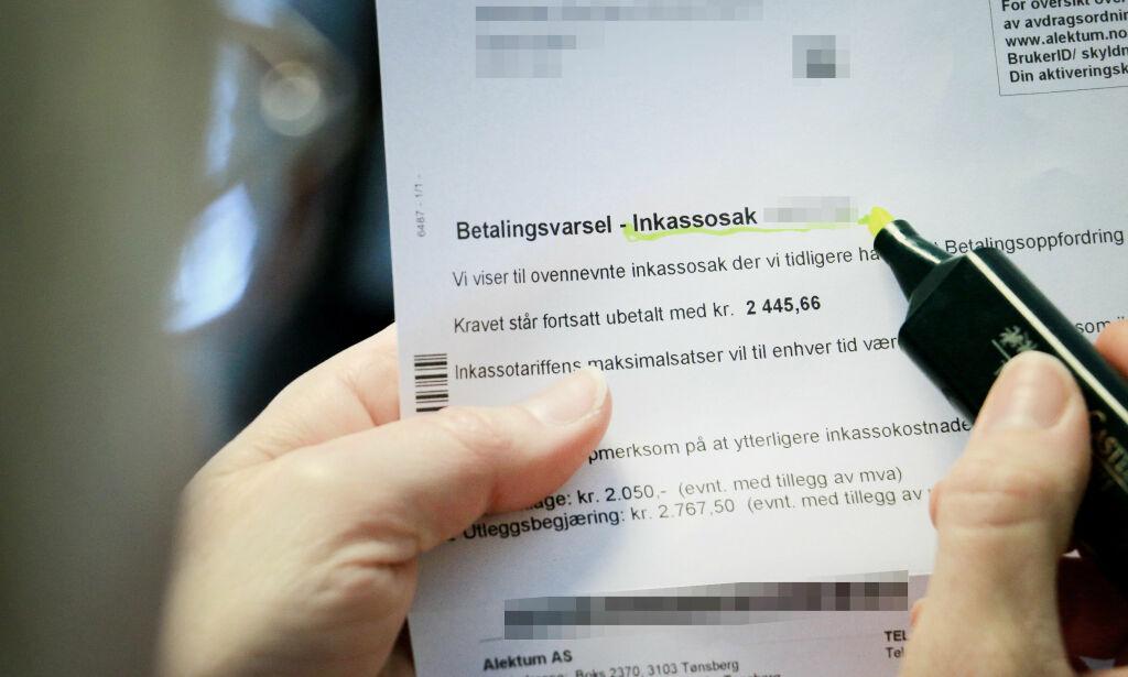 image: Inkassoselskaper krever gebyrer ulovlig: - Viktig å klage!
