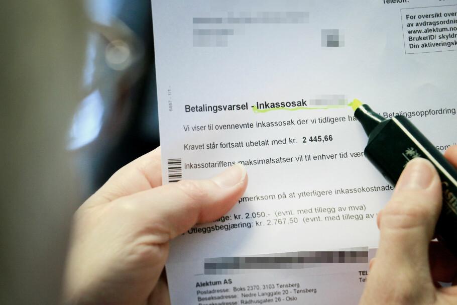 SKUMMELT: Får du et inkassovarsel, er det mest nærliggende å betale det så raskt som mulig for å få det ut av verden. Men om du er uenig i kravet, eller reagerer på hvordan pengene inndrives, kan du ha krav på å slippe – i det minste unngå gebyrene. Foto: Ole Petter Baugerød Stokke