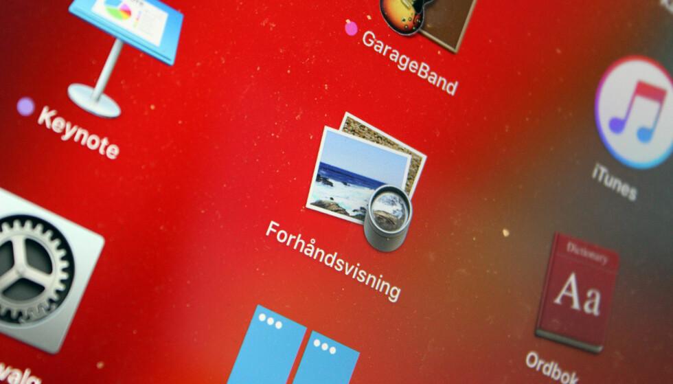 KAN MYE RART: Forhåndsvisning kommer ferdig installert på alle Mac-er, men mange vet ikke at dette programmet faktisk kan gjøre en hel del. Foto: Pål Joakim Pollen