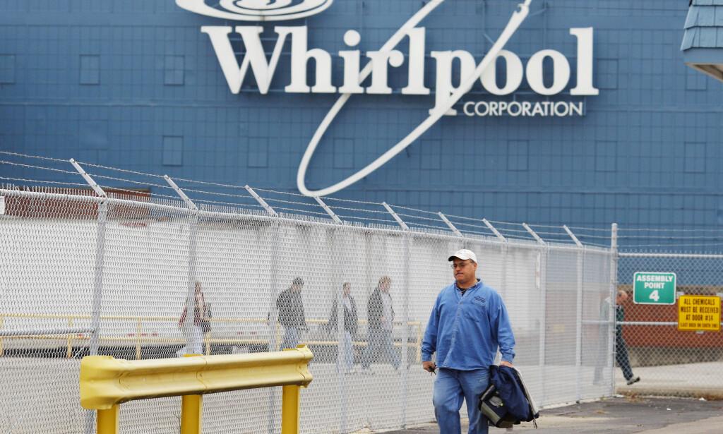 KJEMPESELSKAP: Whirlpool har over 100.000 ansatte og omsetter for mer enn 160 milliarder kroner i året. Her fra fabrikken i Evansville, Indiana, USA. Foto: Brian Snyder/Reuters/NTB Scanpix