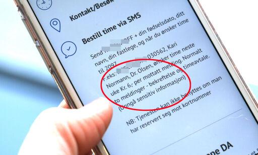 image: Betalte 690 kroner for legetimebestilling på SMS