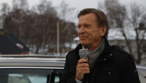 ENTUSIASTISK: Volvos konsernsjef, Håkan Samuelsson, var i godt humør ved avdukingen av Volvo V60 onsdag ettermiddag. Foto: Øystein Fossum