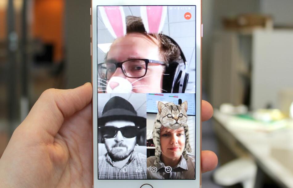 GØY MED VIDEOSAMTALER: Facebook Messenger har etter hvert fått en rekke både morsomme og nyttige videochat-funksjoner. Foto: Kirsti Østvang