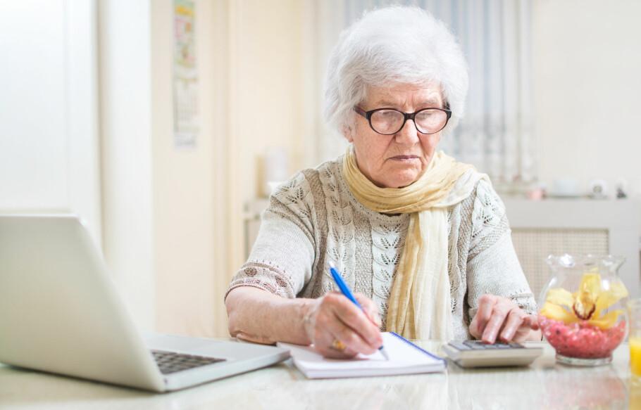 MISVISENDE PENSJONSBEREGNING: Når du mottar privat AFP, skal det gjøres fradrag i den offentlige tjenestepensjonen, men dette fradraget tas ikke med i pensjonskalkulatoren, påpeker Pensjonisforbundet. Foto: Bojan Milinkov/Shutterstock/NTB scanpix.