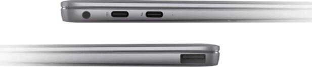 PORTER: Lydutgang, vanlig USB-port og to USB-C-porter. Foto: Huawei
