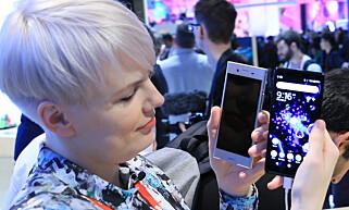 MINDRE KANT: Sony har klart å skrelle av litt av skjermkanten på nye Xperia XZ2.