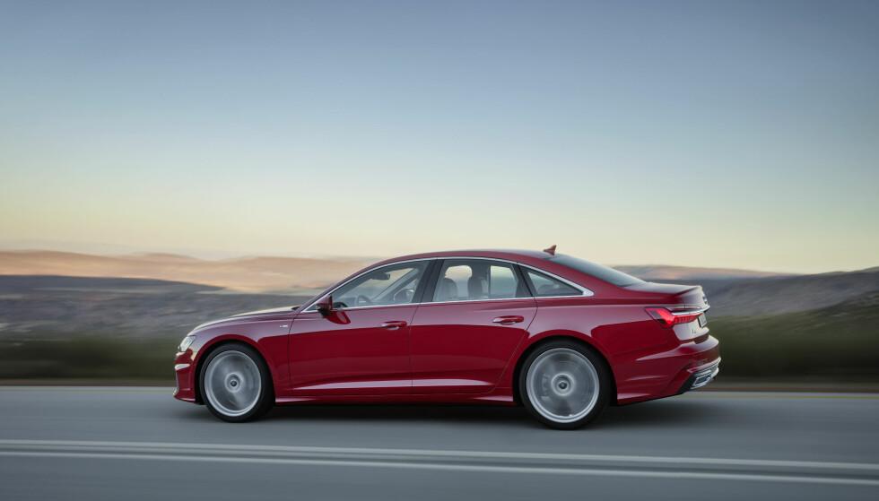 NY GENERASJON: Slik ser splitter nye Audi A6 ut i sedan-utgave. Snart kommer bilen til Norge. Foto: Audi