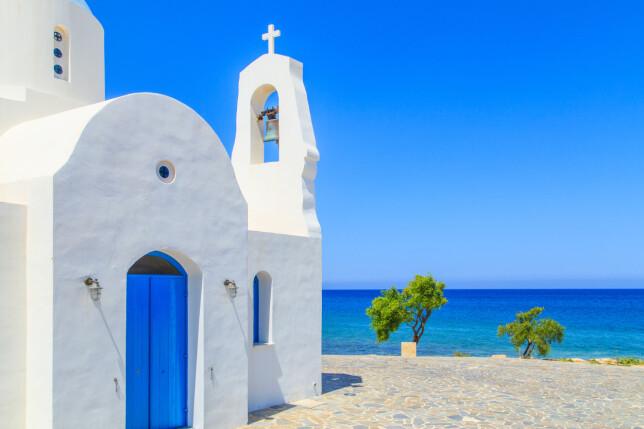VARMEST: Det varmeste badevannet blant de europeiske strandfavorittene finner du på Kypros og i Tyrkia. Dette er ved Protaras, hvor du finner Fig Tree Bay-stranden. Foto: Shutterstock/NTB scanpix