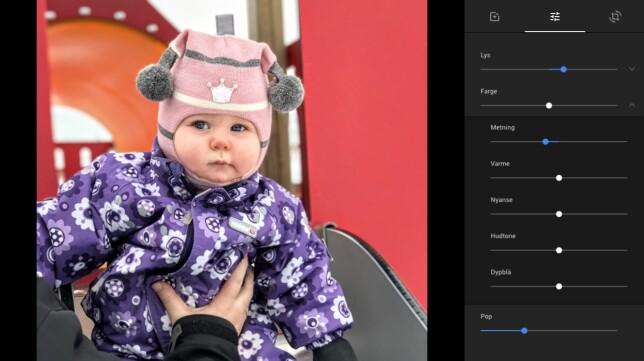 Både på web og direkte i Google Foto-appen kan du gjøre enkel redigering av bildene.