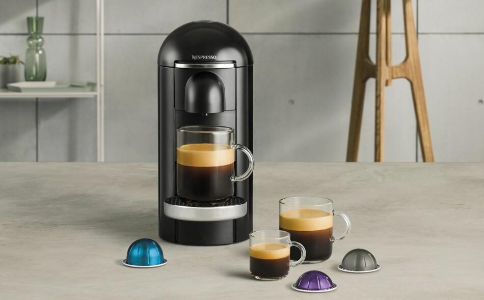 NYE KAPSLER: Nespressos nye kaffekapsler kommer i forskjellige størrelser, alt fra en liten espresso til en skikkelig stor kopp på over 4 desiliter. Foto: Produsenten