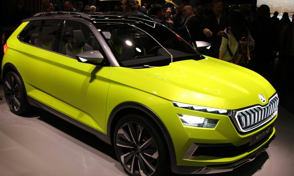 GULT ER KULT: Konseptbilen Skoda Vision X vil komme på markedet som Skoda Polar i 2019. Foto: Rune Korsvoll