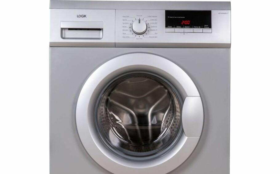 BUNNPLASSERING: Logik L814WMS17 får med sine 25 prosent bunnplassering blant alle vaskemaskinene Which? har testet i løpet av åtte år. Foto: Currys