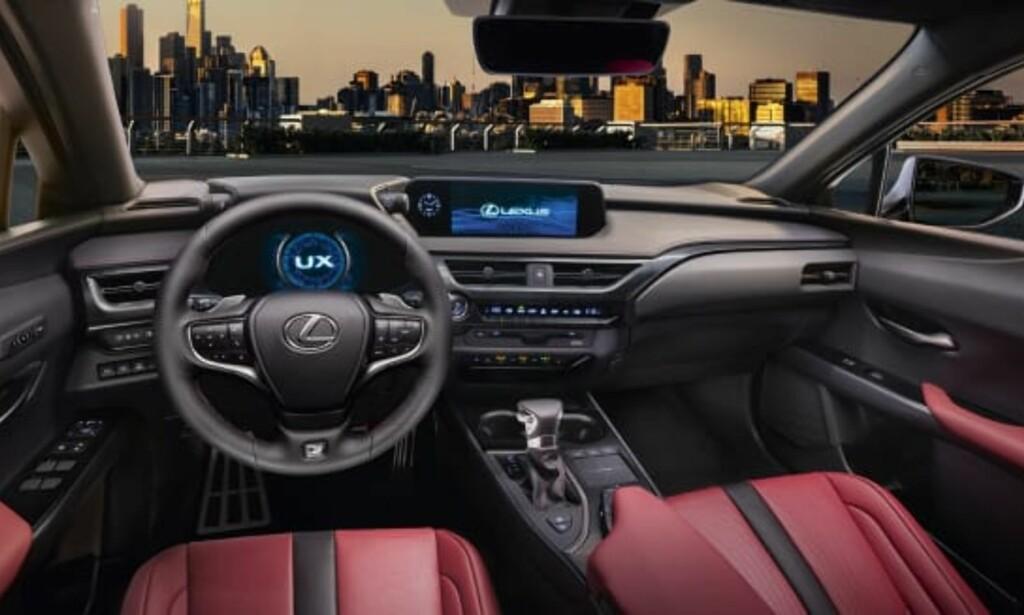 FØRERORIENTERT: Det meste er gjort for å være sentrert mot føreren. Foto: Lexus