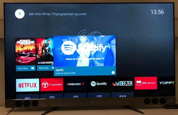 BRUKERVENNLIG: Android TV er en plattform som er oversiktlig og enkel å bruke. Foto: Bjørn Eirik Loftås