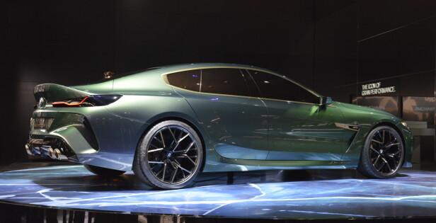 5-METERSKLUBBEN: Concept M8 Gran Coupe er en lang bil på over fem meter - som Panamera og 4-dørs AMG GT. Foto: Jamieson Pothecary
