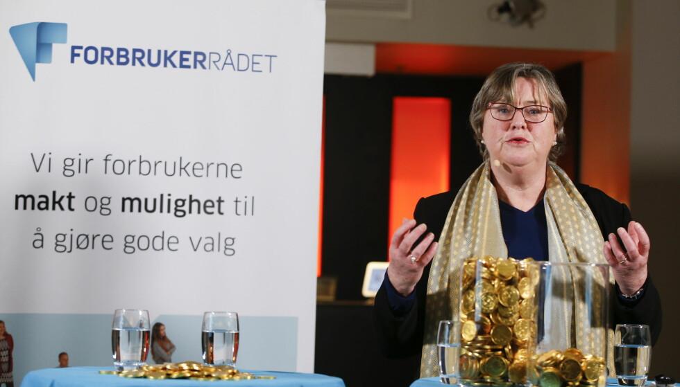 <strong>SPAREVALG:</strong> Elisabeth Realfsen mener funnene i DNBs undersøkelse av risikoviljen til sine kvinnelige og mannlige kunder, som viser at kvinner velger spareprodukter med mindre risiko, ikke er representativt for hele samfunnet. Foto: Terje Pedersen/NTB scanpix.