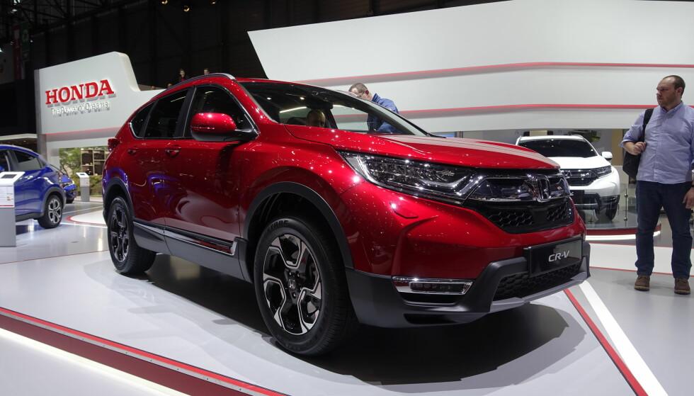 IKKE DIESEL: Honda ser ut til å velge bort en diesel-variant av nye CR-V. Foto: Jamieson Pothecary