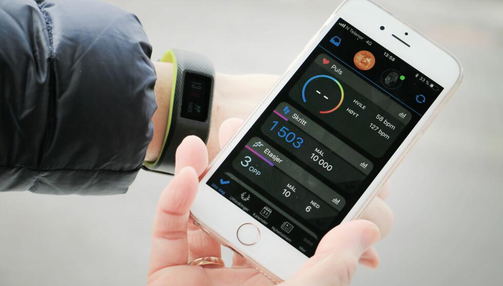 MYE INFORMASJON: Garmins app kan gi mye informasjon - kanskje litt vel mye for noen. Foto: Ole Petter Baugerød Stokke