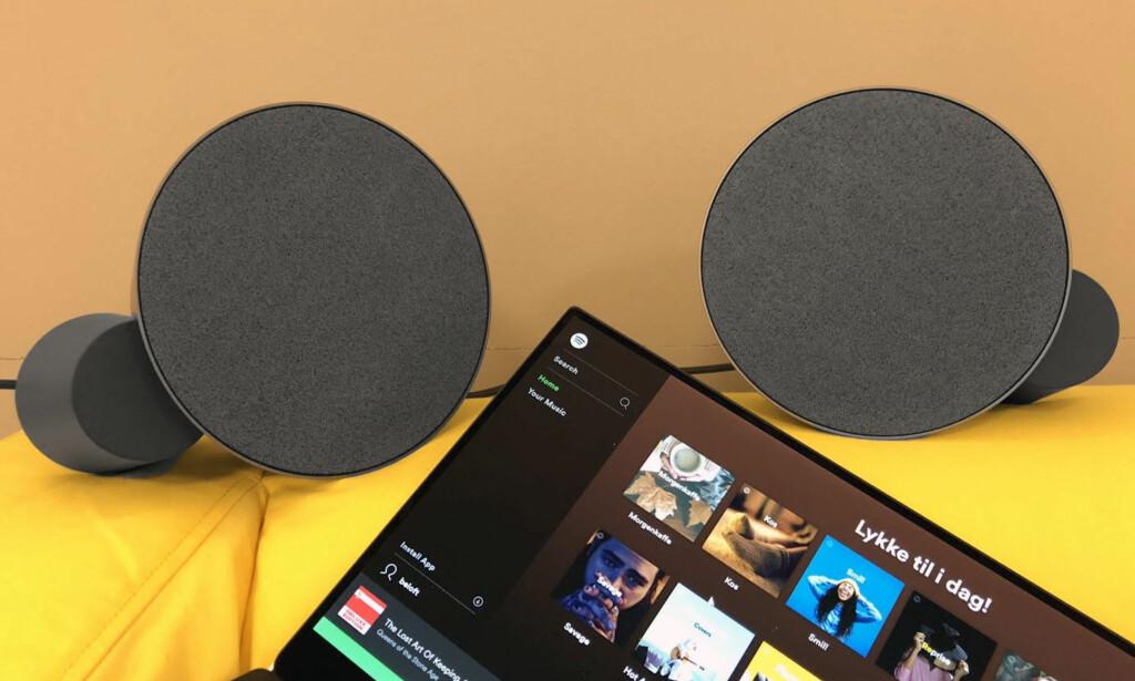 BRA LYD: Logitech MX Sound lar deg koble til fire eksterne kilder samtidig - to kablet og to trådløse. Foto: Bjørn E Loftås