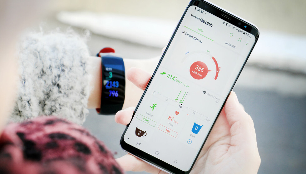 KUNNE VÆRT BEDRE: Health-appen du må bruke med Samsungs akivitetsarmbånd mangler litt funksjonalitet sammenlignet med de aller beste. Brukergrensesnittet er litt tungvint å navigere i. Foto: Ole Petter Baugerød Stokke