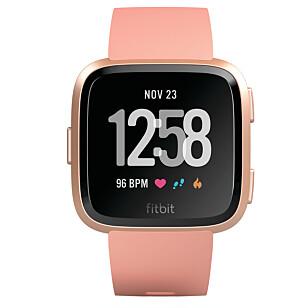 MIKS OG MATCH: Fitbit Versa kommer i tre forskjellige farger; svart, sølv og rosa. Foto: Produsenten