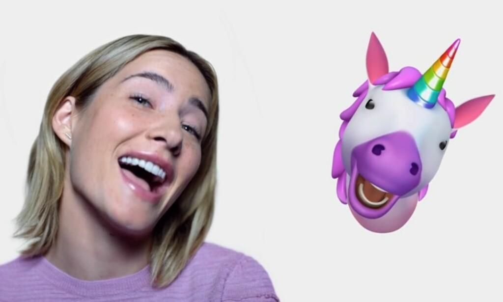 ANIMOJI: Morsomme emojis som etterligner mimikkene dine. Foto: Apple
