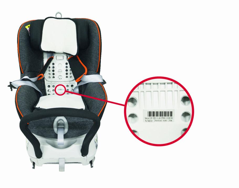 <strong>SERIENUMMER:</strong> Har du kjøpt et Dualfix barnesete, bør du sjekket produsentenes nettside. Setet kan være farlig. Foto: Britax