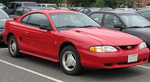 FORFALLET: En 90-talls Mustang var bare en blek skygge av opphavet. Foto: IFCAR/Wikimedia Commons