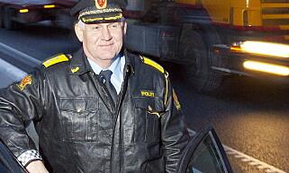UP-SJEFEN BEKYMRET: UP-sjef Runar Karlsen er bekymret for økningen i antall bilskilt som stjeles. Foto: Per Flåthe