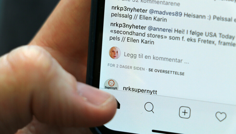 LEI AV Å SE GAMLE BILDER: Instagram har fått mange klager over at den algoritme-baserte bildestrømmen viser for mye gamle bilder for høyt oppe. Nå sier de at det skal endre seg. Foto: Kirsti Østvang