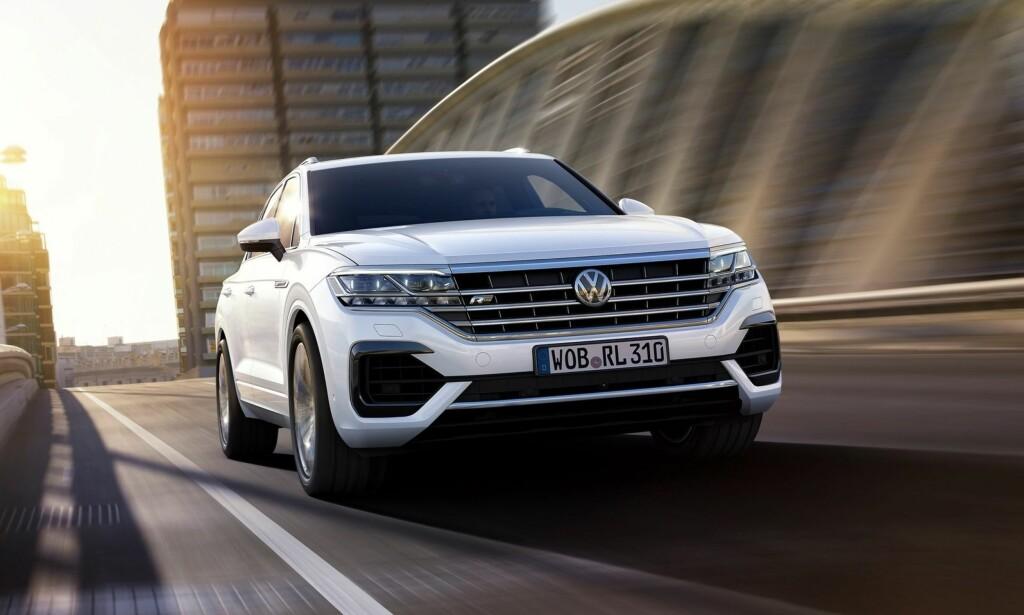 KOMMER TIL SOMMEREN: Tredje generasjon VW Touareg skal være proppet med teknologi. Foto: Volkswagen