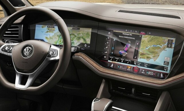 INFOTAINMENT: Slik skal nye »Digital Cockpit» se ut i nye VW Touareg. Foto: Volkswagen