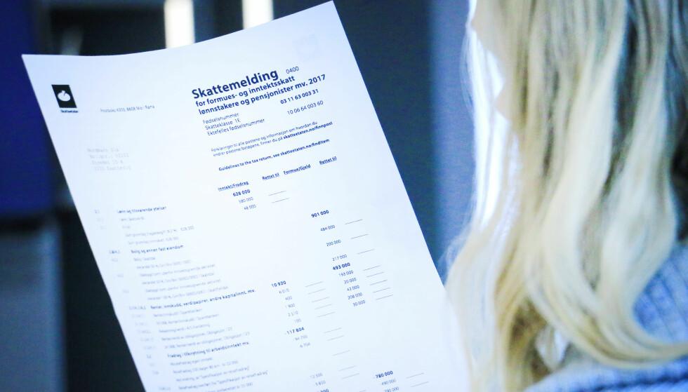 DIN SKATTEMELDING: Det er noen poster på skattemeldingen som kan være direkte tilknyttet ditt privatliv. Vet du, for eksempel, hvilke fradrag som gjelder hvis du er student eller sparer i BSU? Foto: Ole Petter Baugerød Stokke.