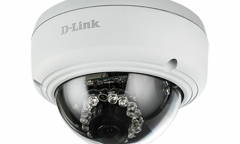 FØLGER MED: Dette overvåkingskameraet fra D-Link kan kobles sammen med Mieles kjøkken- og vaskeutstyr. Noen er redd for at dette kan koste dem privatlivet. Foto: D-Link