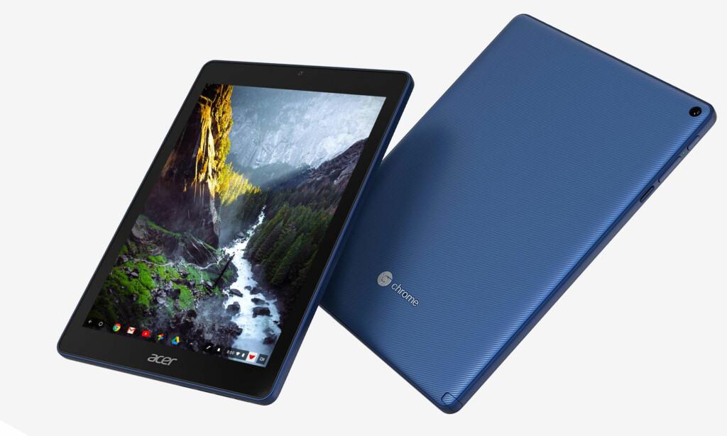 IPAD-KONKURRENT: Acer og Google er klare med det første nettbrettet basert på ChromeOS. Foto: Acer
