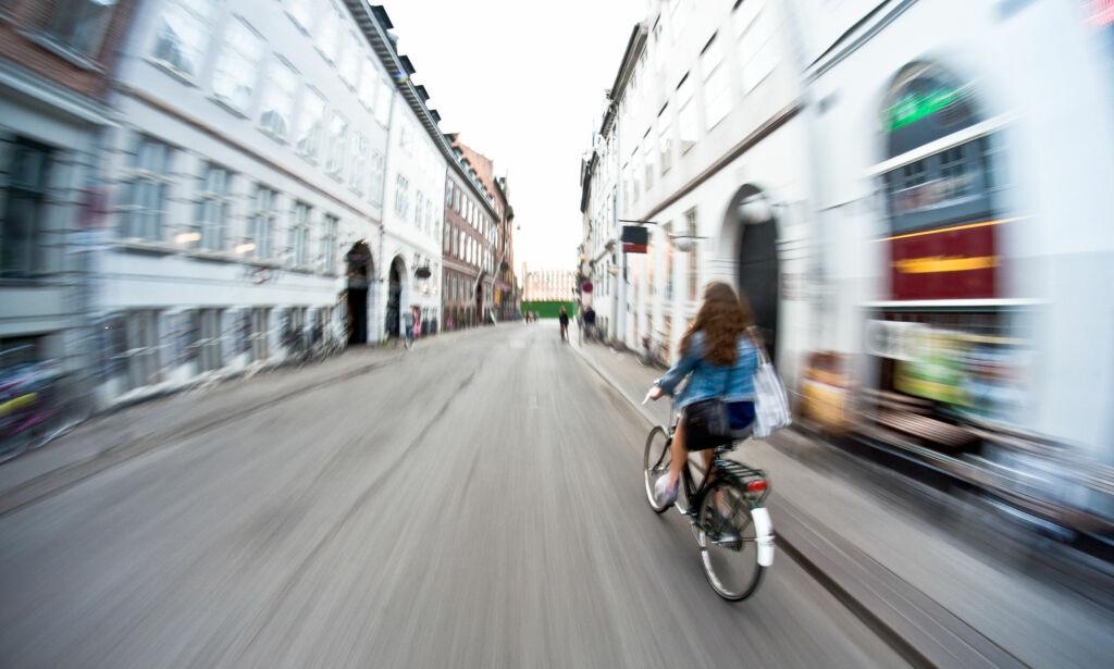 image: Hvor fort går det egentlig an å sykle med en elsykkel?