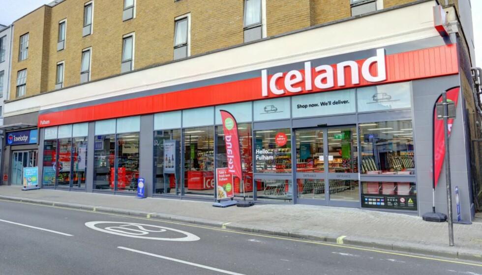 RETT RUNDT HJØRNET: Det blir to Iceland Foods-butikker å finne her til lands innen kort tid, etter planen før sommeren. Her er en av matbutikkene i Fulham i London. Foto: Iceland.