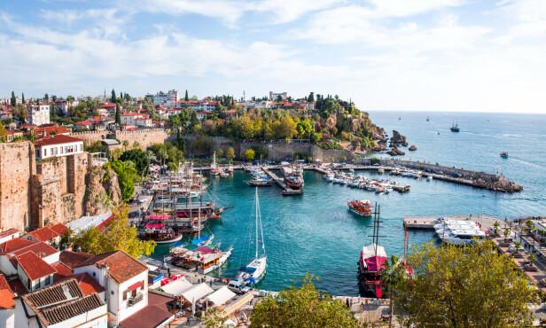 ANTALYA: Mange nordmenn har feriert i Antalya - og etter en periode da Tyrkia ikke var fullt så attraktivt for nordmenn på sydenferie, så har det startet å ta seg opp igjen på popularitetslista. Foto: Shutterstock/NTB scanpix