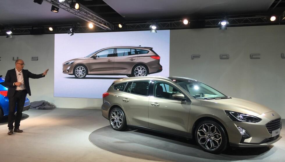 MEST AVANSERTE: Nye Focus bli den mest avanserte bilen Ford vil ha i Europa, ifølge utviklingssjef Joe Bakaj. Bilen er proppfull av nytt, spennende utstyr. Foto: Rune Korsvoll