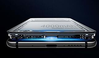 BATTERI: Ved normal bruk holder telefonen i to dager uten lading, og i hele tre dager om du er sparsom med bruken. Foto: Huawei