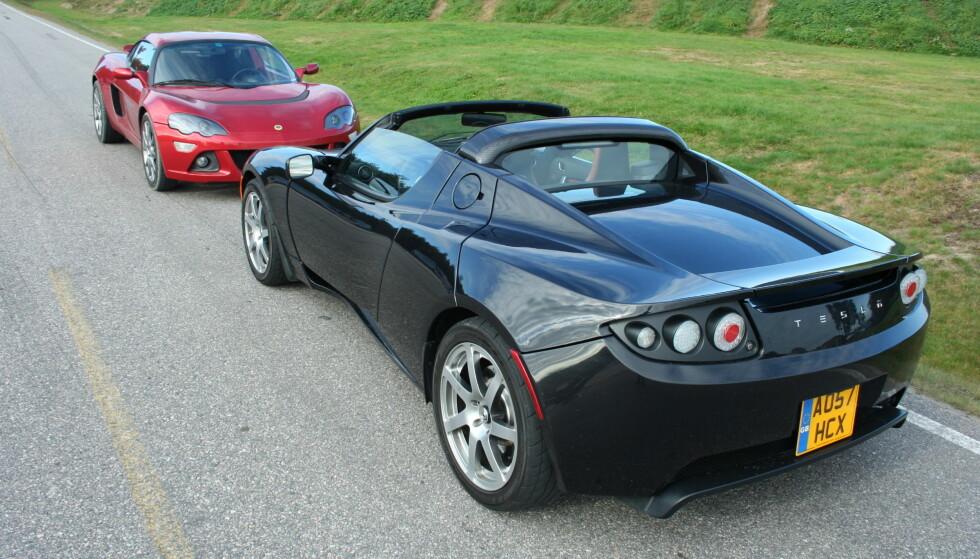 <strong>OGSÅ ROADSTER:</strong> Von Gemminger eier to Teslaer Den ene er en Roadster, som den nærmeste bilen på bildet. Illustrasjonsfoto: Knut Moberg