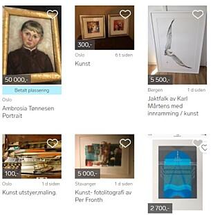 STORT TILBUD: På Finn.no ligger det i skrivende stund rundt 3.000 bilder for salg. Foto: Tore Neset