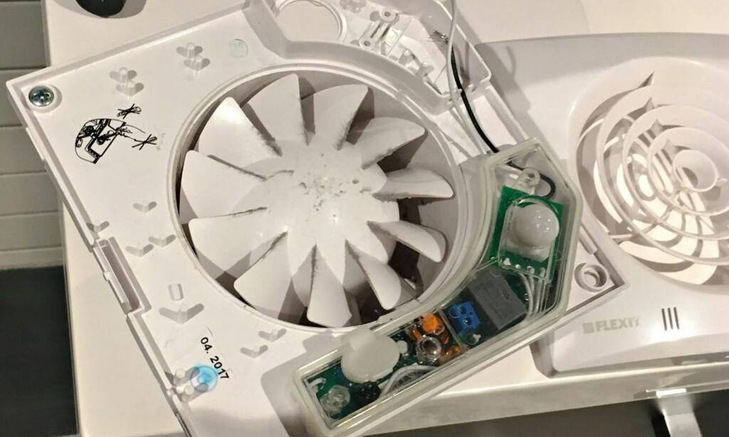 INNSIDEN: Slik ser Flexit Silent Eco ut når du åpner den. Foto: Vestfold Interkommunale Brannvesen