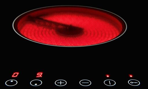 VARMEELEMENT: Sånn ser en keramisk topp ut når man fjerner kjelen. Foto: Shutterstock