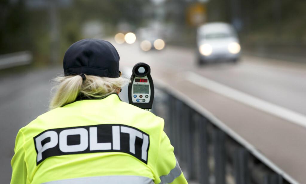EKSTRA FARTSKONTROLLER: Denne uken blir det flere fartskontroller enn til vanlig, varsler UP. Foto: NTB Scanpix