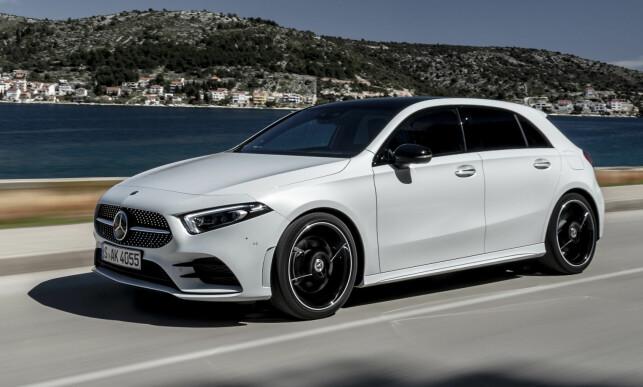 SPORTY, MEN SMART: Aerodynamikken er et knepp bedre fra den allerede svært aerodynamiske førstegenerasjon A- Klasse. Foto: Mercedes