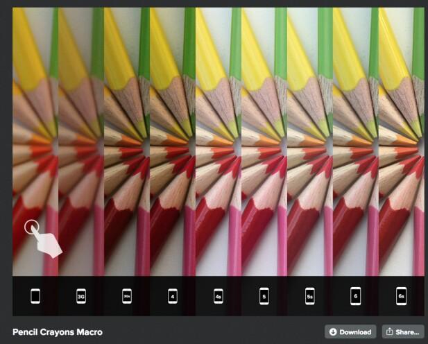 Snapsnapsnap har en artig sammenligning av alle iPhone-kameraene frem til 6s, som ble lansert i 2015. Foto: Snapsnapsnap