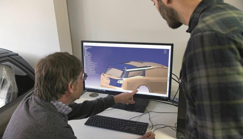 KUSTOM: Qwest laget en digital skisse og modell av bilen. Foto: Luc Lacey